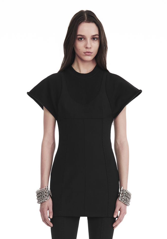 ALEXANDER WANG HYBRID SWEATSHIRT MINI DRESS Short dress Adult 12_n_e