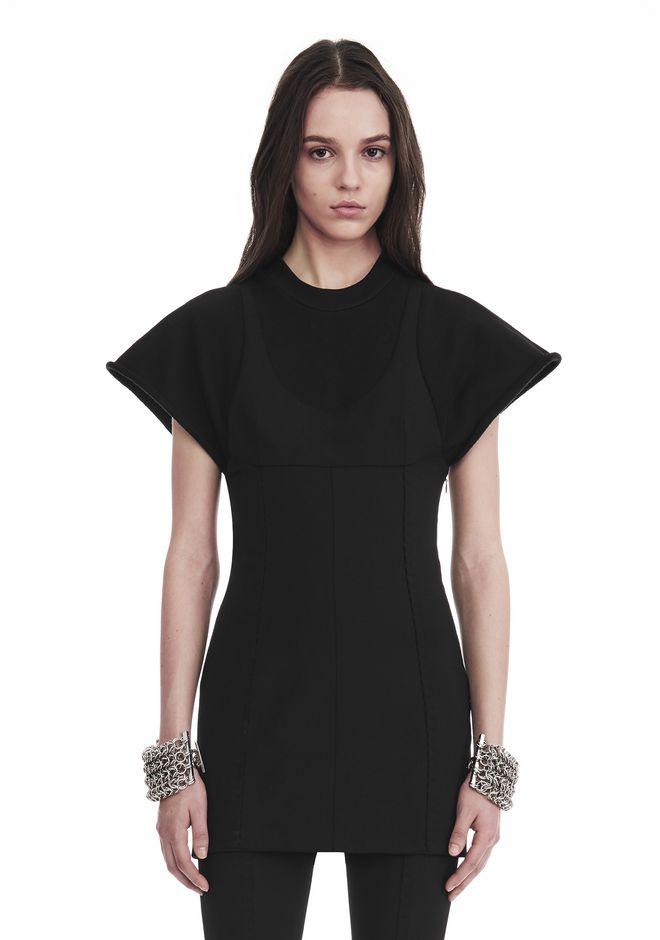 ALEXANDER WANG HYBRID SWEATSHIRT MINI DRESS 短款连衣裙 Adult 12_n_e