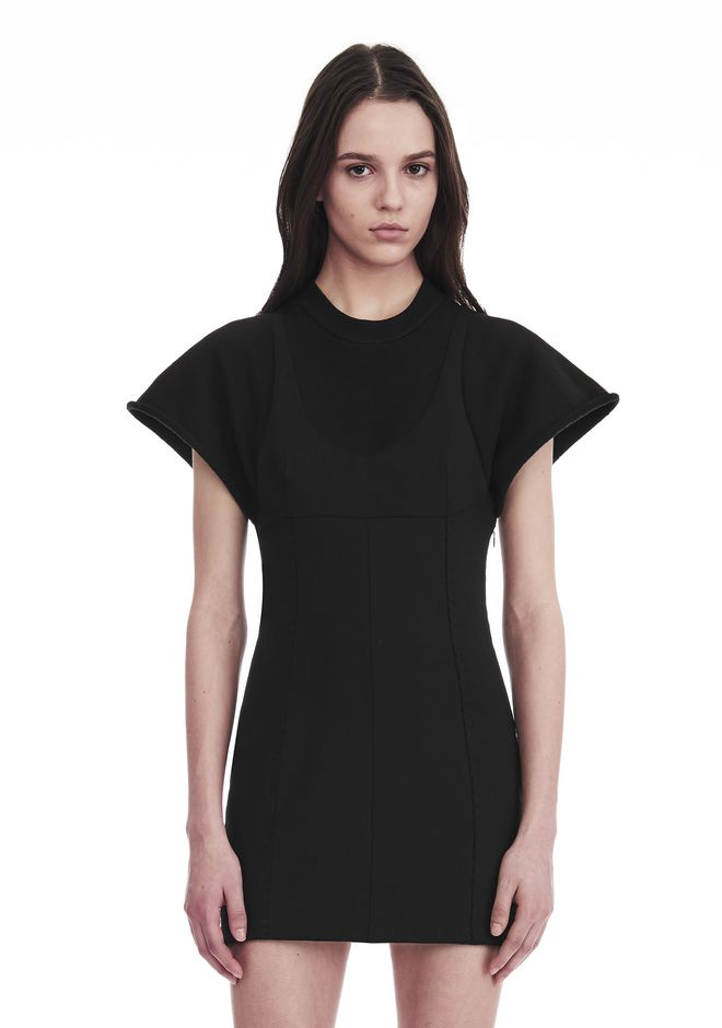 ALEXANDER WANG HYBRID SWEATSHIRT MINI DRESS Short dress Adult 12_n_r