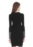 ALEXANDER WANG LONG SLEEVE DRESS WITH CRYSTAL CUFF TRIM 3/4 length dress Adult 8_n_d