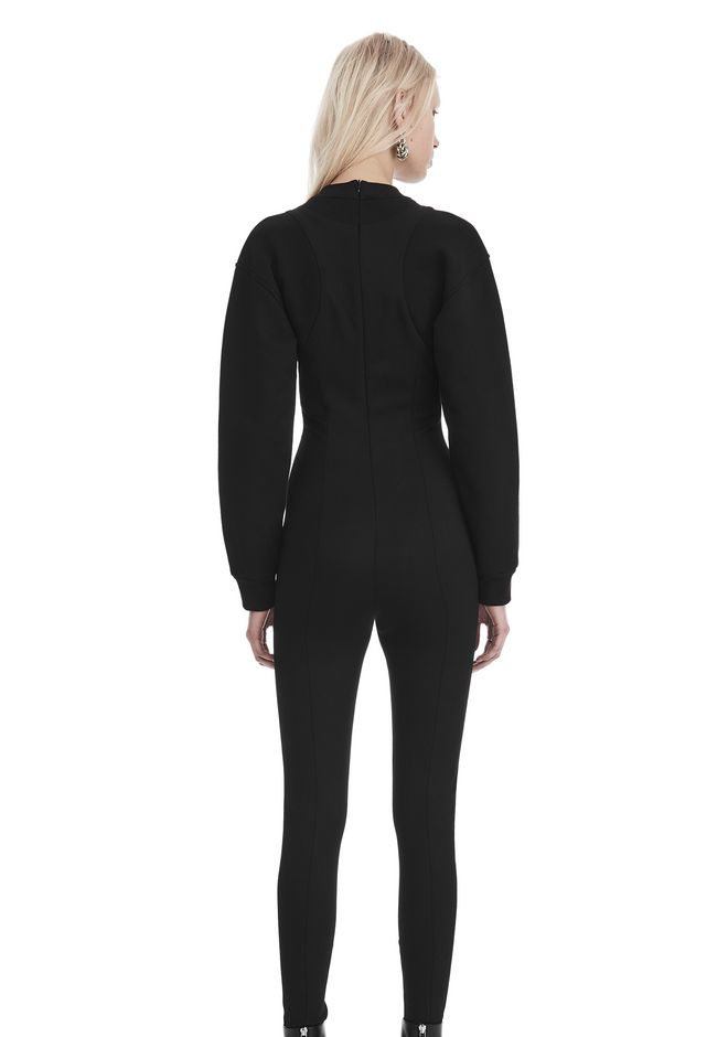 ALEXANDER WANG SCOOP NECK BODYSUIT WITH SWEATSHIRT UNDER LAYER Long dress  12_n_d