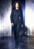 ALEXANDER WANG SCOOP NECK BODYSUIT WITH SWEATSHIRT UNDER LAYER Long dress  8_n_a