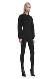 ALEXANDER WANG SCOOP NECK BODYSUIT WITH SWEATSHIRT UNDER LAYER Long dress  8_n_f