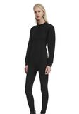 ALEXANDER WANG SCOOP NECK BODYSUIT WITH SWEATSHIRT UNDER LAYER Long dress  8_n_r