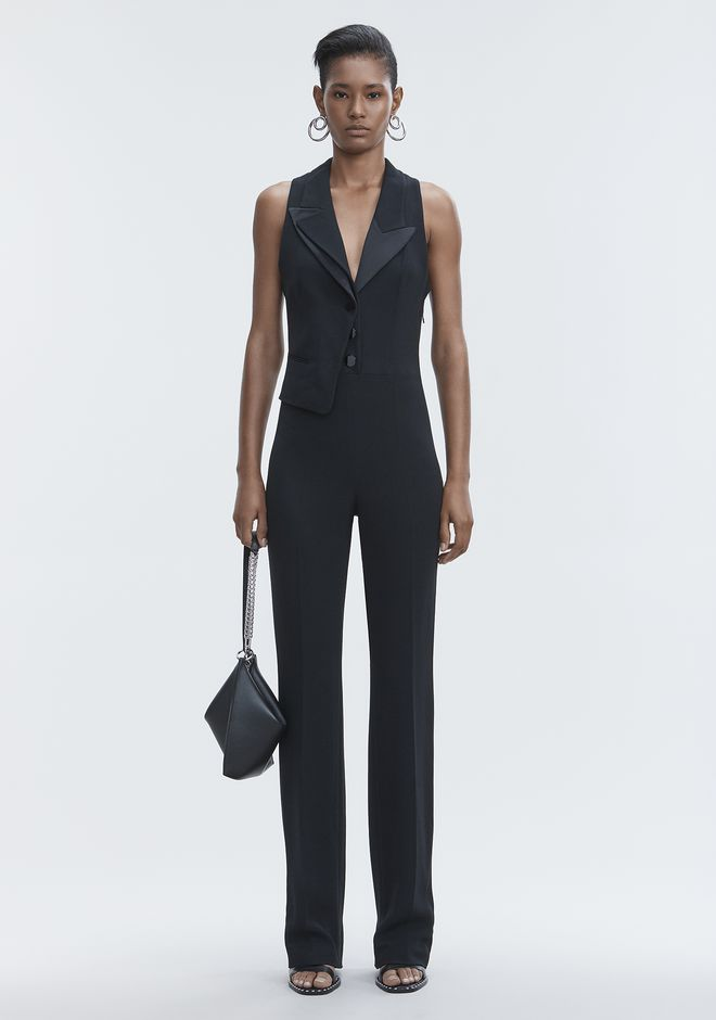 ALEXANDER WANG Robes longues SPLIT LAPEL JUMPSUIT