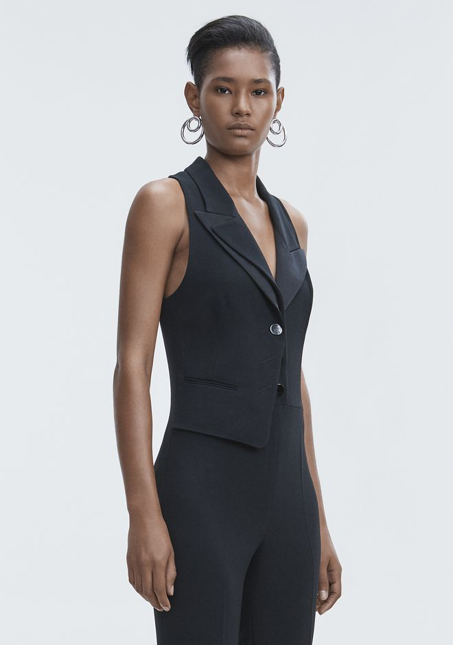 ALEXANDER WANG SPLIT LAPEL JUMPSUIT Long dress Adult 12_n_a