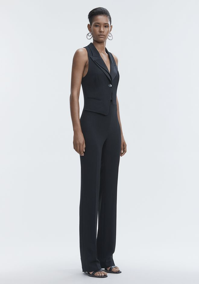 ALEXANDER WANG SPLIT LAPEL JUMPSUIT Long dress Adult 12_n_d