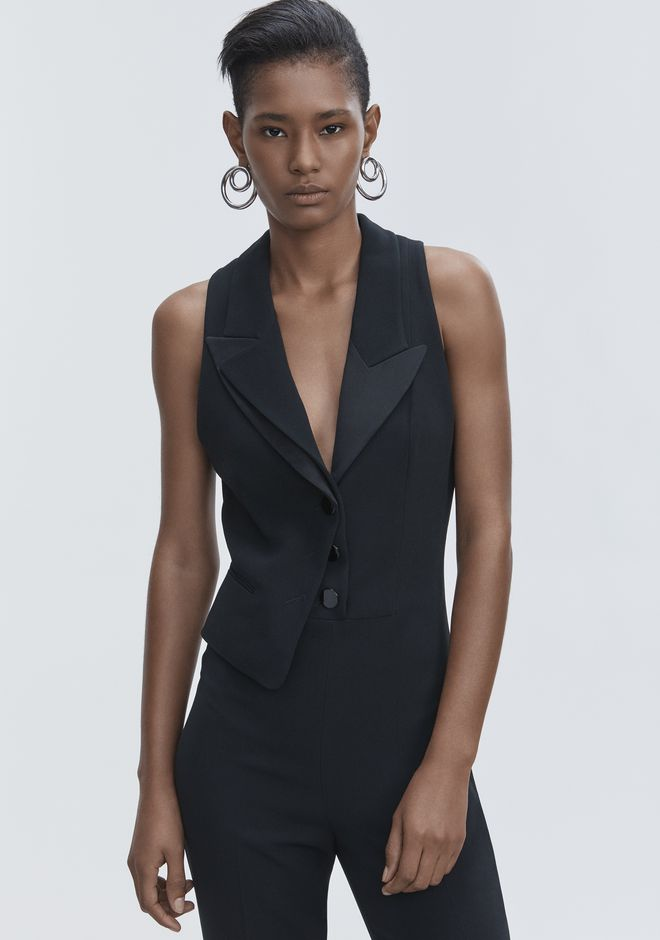 ALEXANDER WANG SPLIT LAPEL JUMPSUIT Long dress Adult 12_n_r
