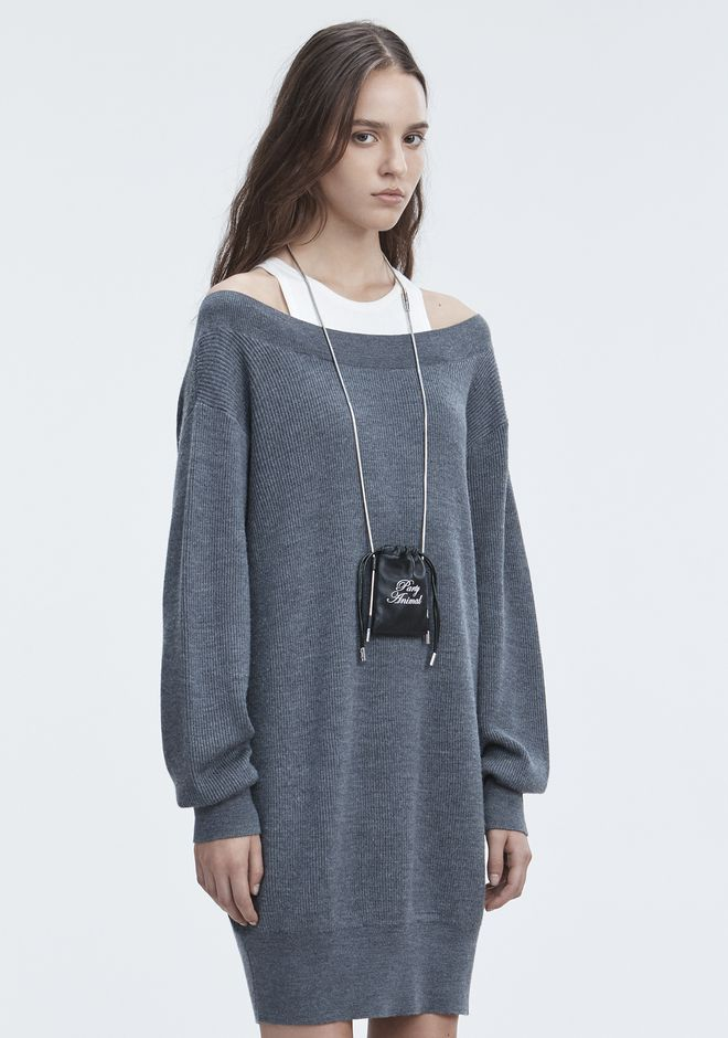 T by ALEXANDER WANG BI-LAYER KNIT DRESS KNIT DRESS Adult 12_n_a