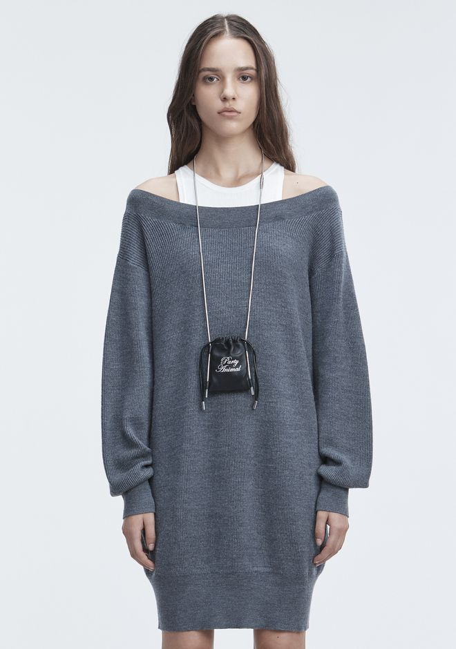 T by ALEXANDER WANG BI-LAYER KNIT DRESS KNIT DRESS Adult 12_n_e