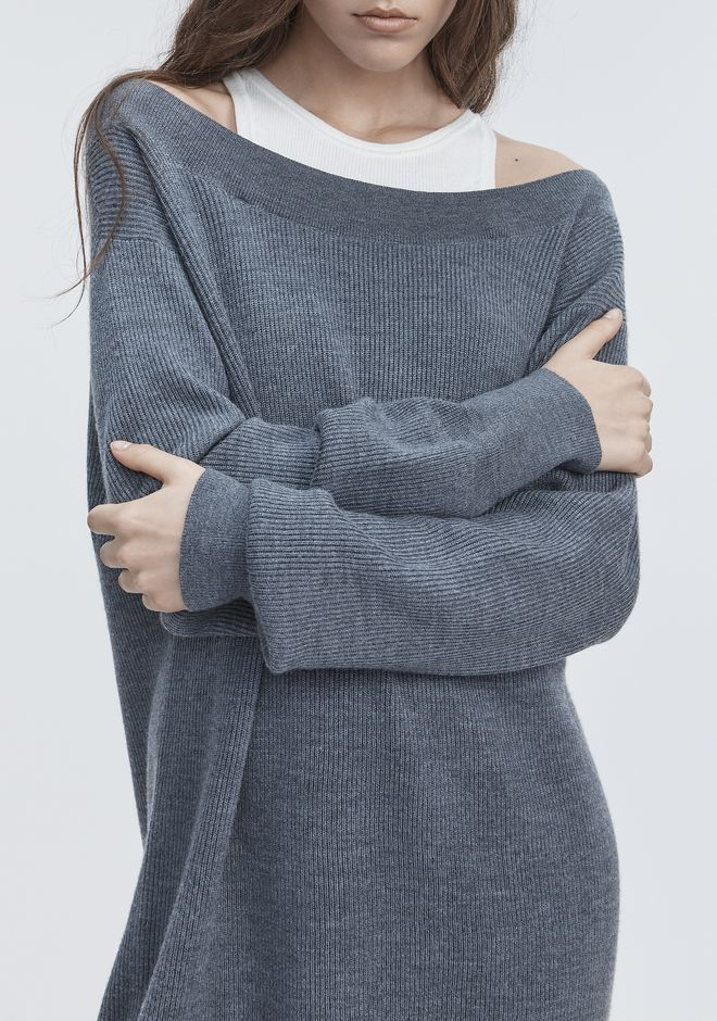 T by ALEXANDER WANG BI-LAYER KNIT DRESS 针织连衣裙 Adult 12_n_r
