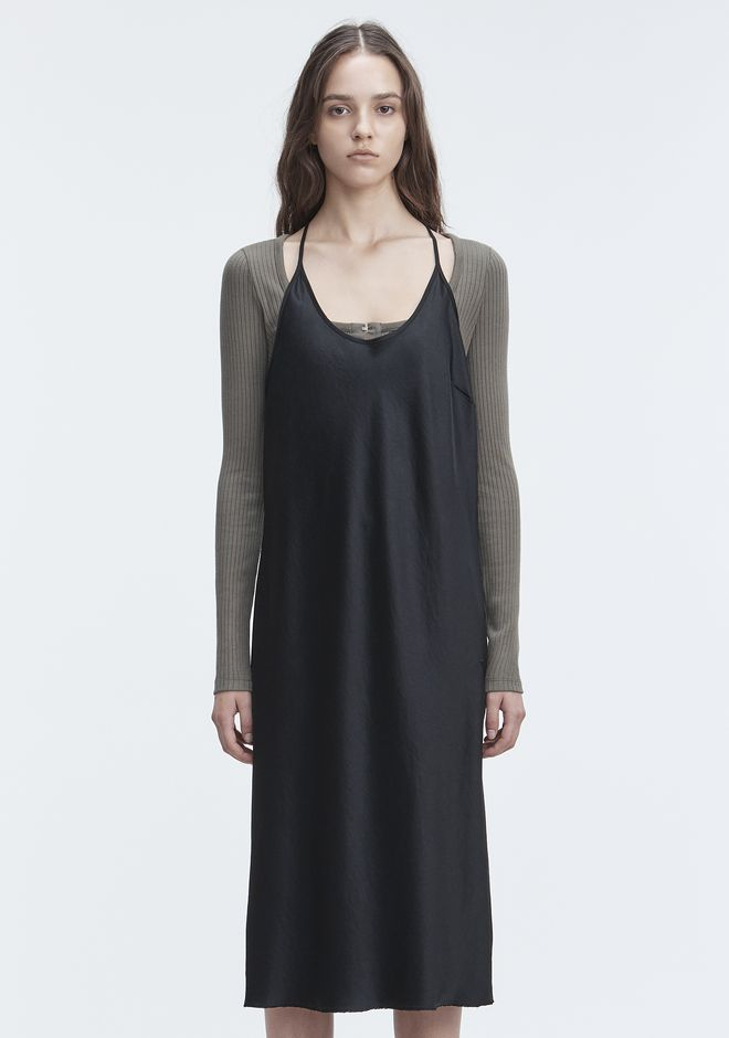 T by ALEXANDER WANG WASH & GO SLIP DRESS 3/4 length dress Adult 12_n_d