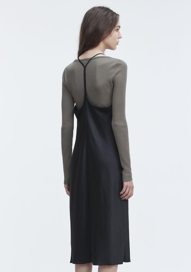 T by ALEXANDER WANG WASH & GO SLIP DRESS 3/4 length dress Adult 12_n_e