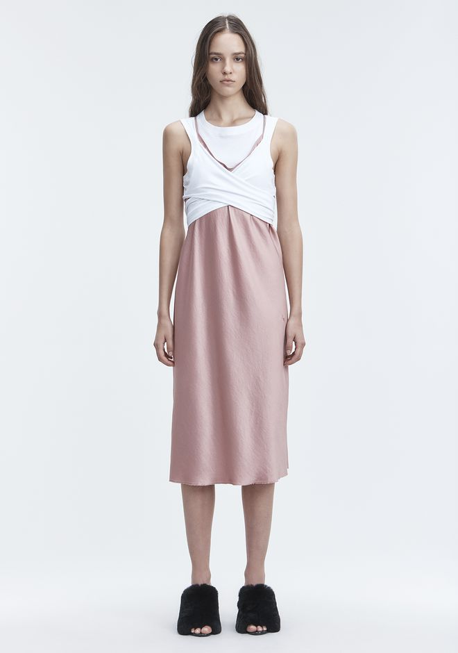 T by ALEXANDER WANG WASH & GO SLIP DRESS Vestito longuette Adult 12_n_f