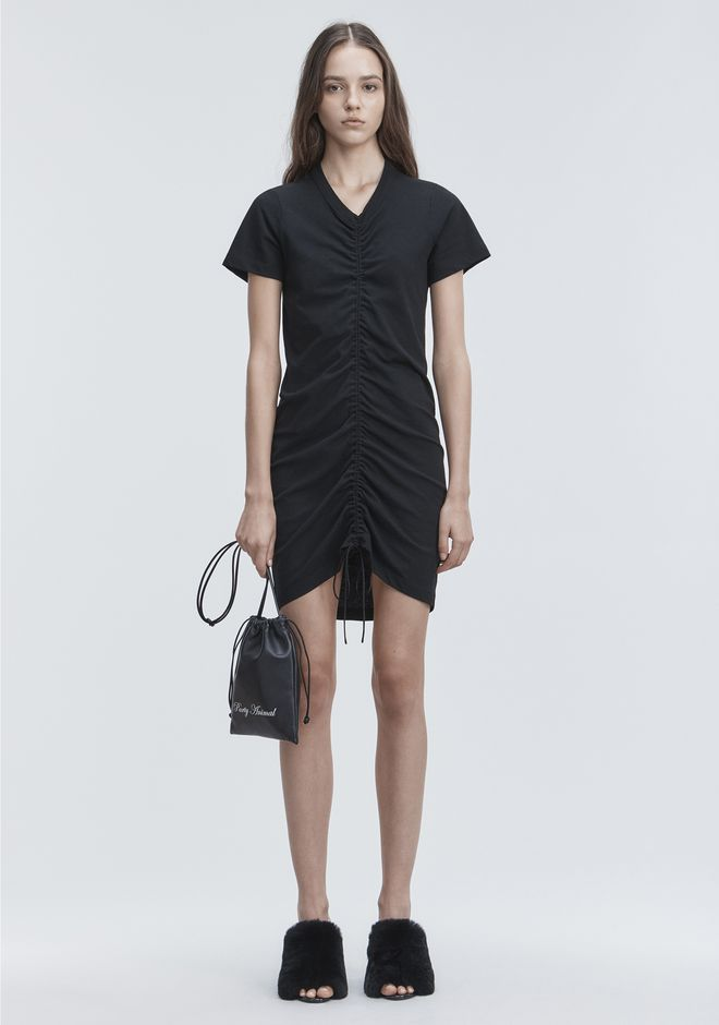 T by ALEXANDER WANG GATHERED FRONT DRESS Short dress Adult 12_n_f