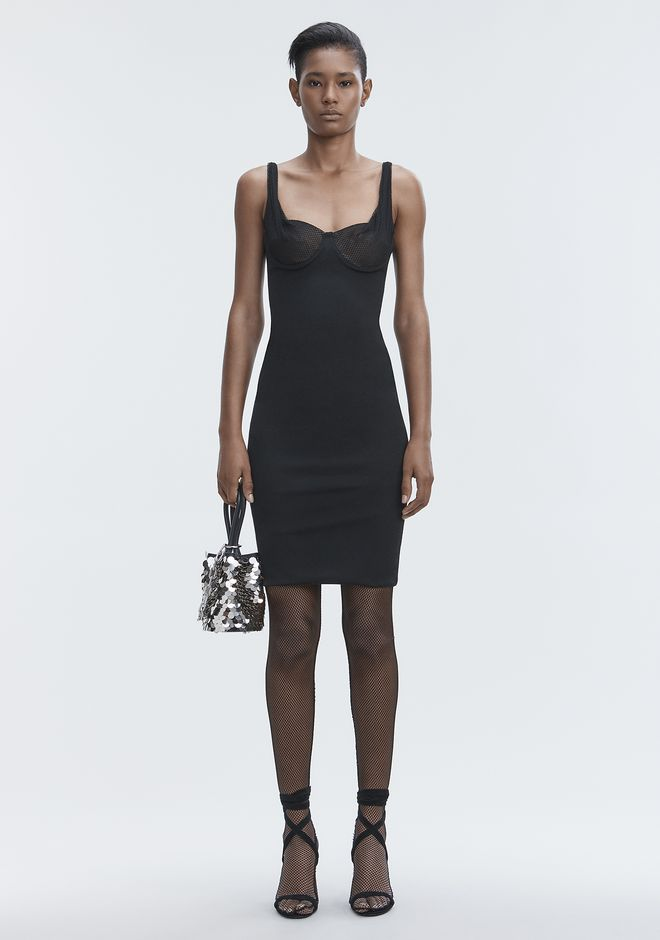 ALEXANDER WANG slrtwdr RUCHED BODYCON DRESS