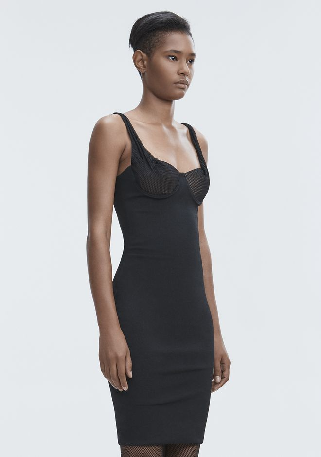 ALEXANDER WANG RUCHED BODYCON DRESS Langes Kleid Adult 12_n_a