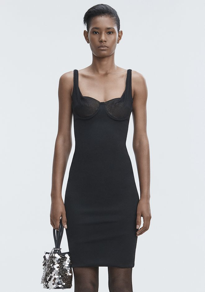 ALEXANDER WANG RUCHED BODYCON DRESS Langes Kleid Adult 12_n_d