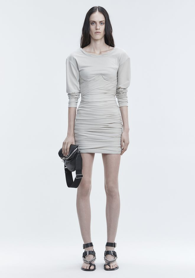ALEXANDER WANG new-arrivals-ready-to-wear-woman BUSTIER RUCHED MINI DRESS