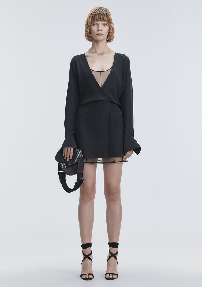 ALEXANDER WANG slrtwdr V-NECK MINI DRESS