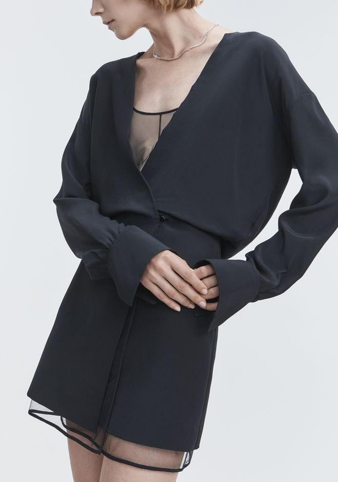 ALEXANDER WANG V-NECK MINI DRESS 长款连衣裙 Adult 12_n_r
