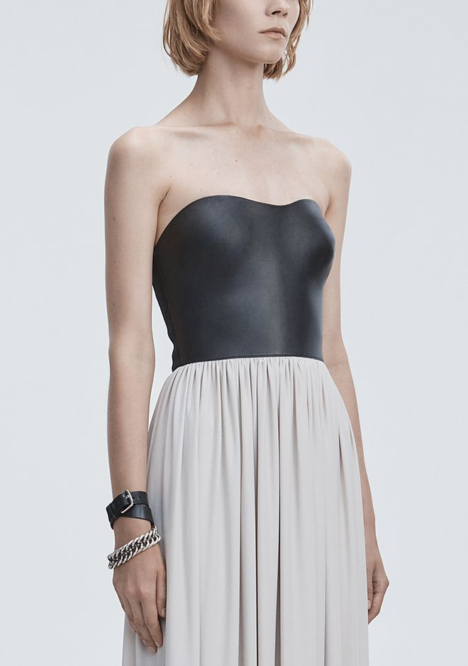 ALEXANDER WANG MOLDED LEATHER BUSTIER GOWN Long dress Adult 12_n_a
