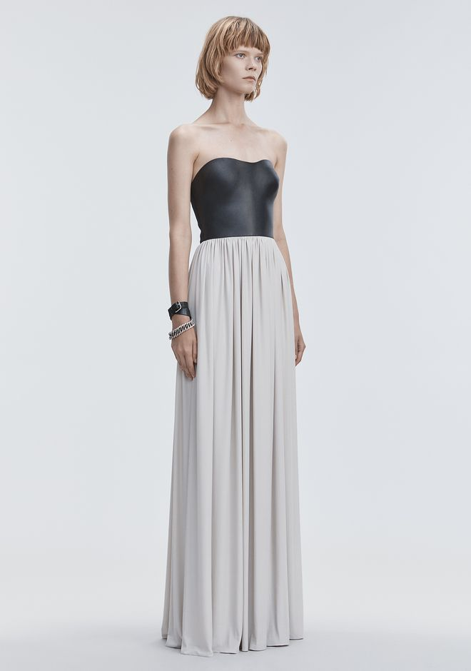 ALEXANDER WANG MOLDED LEATHER BUSTIER GOWN Long dress Adult 12_n_d