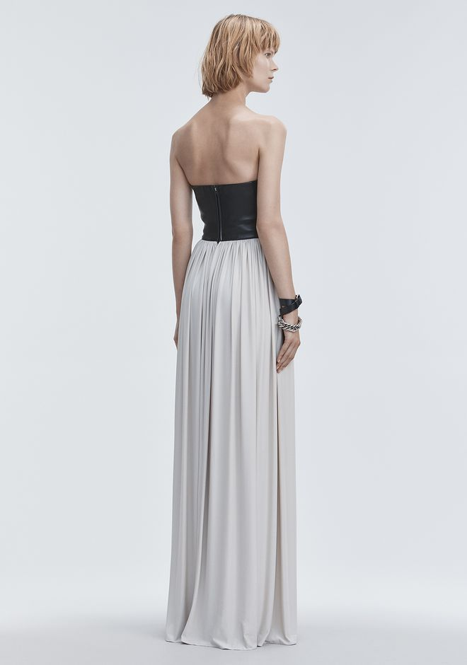 ALEXANDER WANG MOLDED LEATHER BUSTIER GOWN Long dress Adult 12_n_e