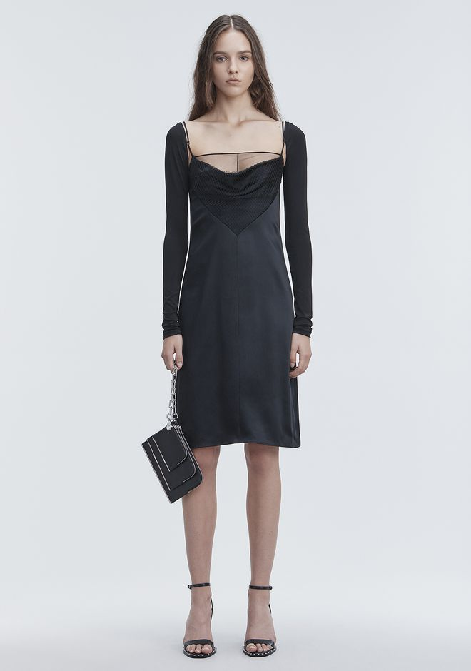 ALEXANDER WANG Long dresses Women COWL FRONT SLIP DRESS