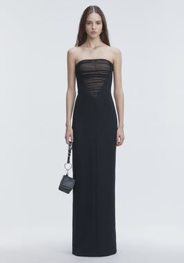 DECONSTRUCTED BUSTIER GOWN