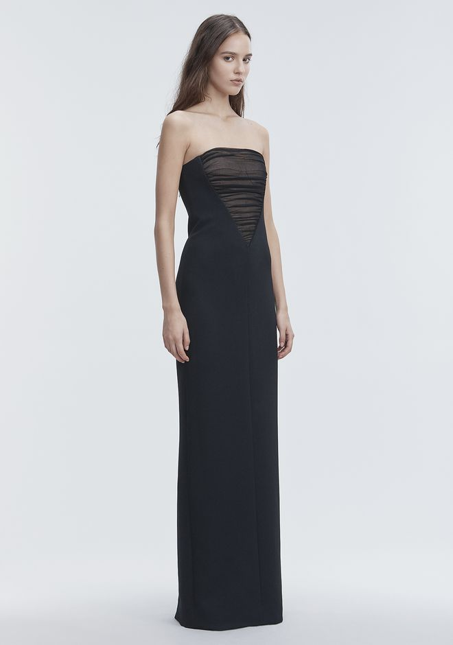 ALEXANDER WANG DECONSTRUCTED BUSTIER GOWN  Long dress Adult 12_n_a