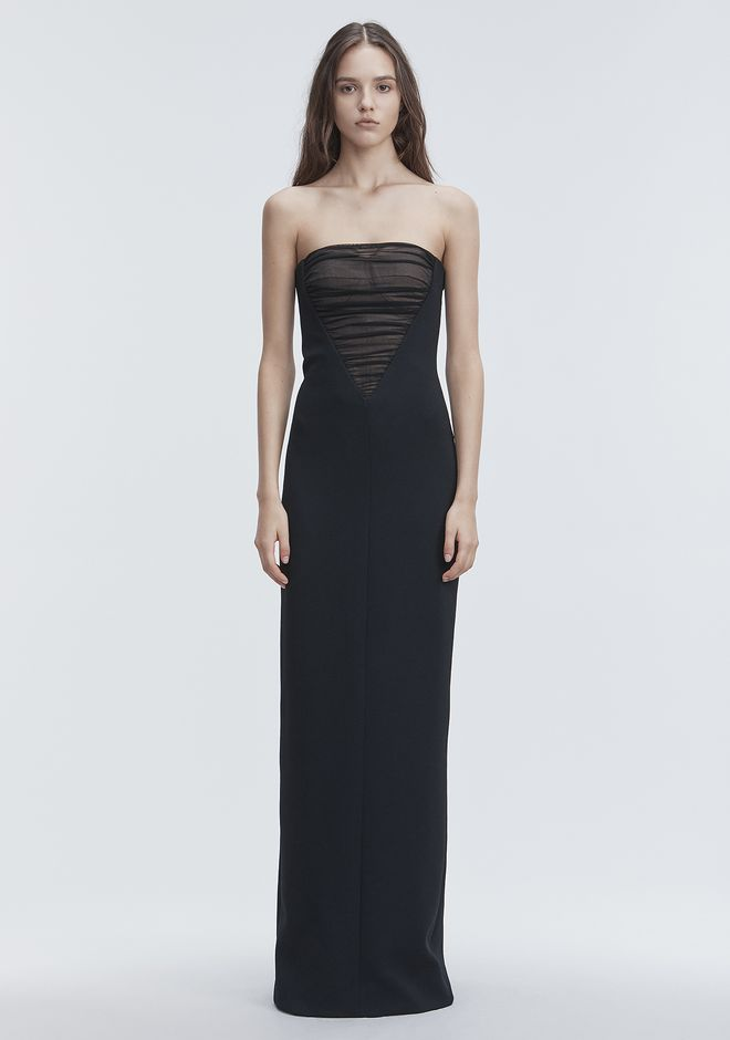 ALEXANDER WANG DECONSTRUCTED BUSTIER GOWN  Long dress Adult 12_n_d