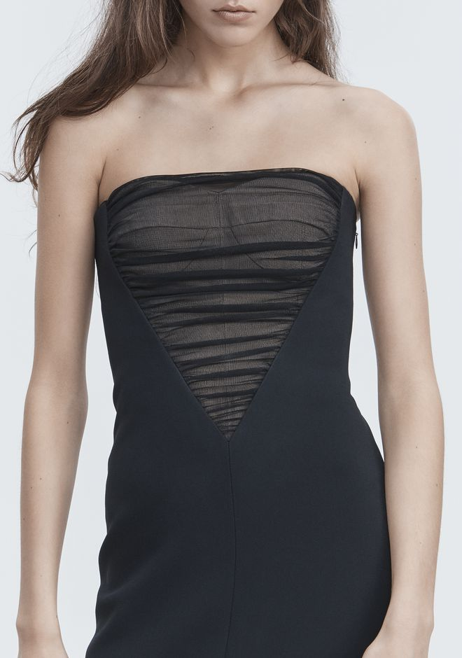 ALEXANDER WANG DECONSTRUCTED BUSTIER GOWN  Long dress Adult 12_n_r