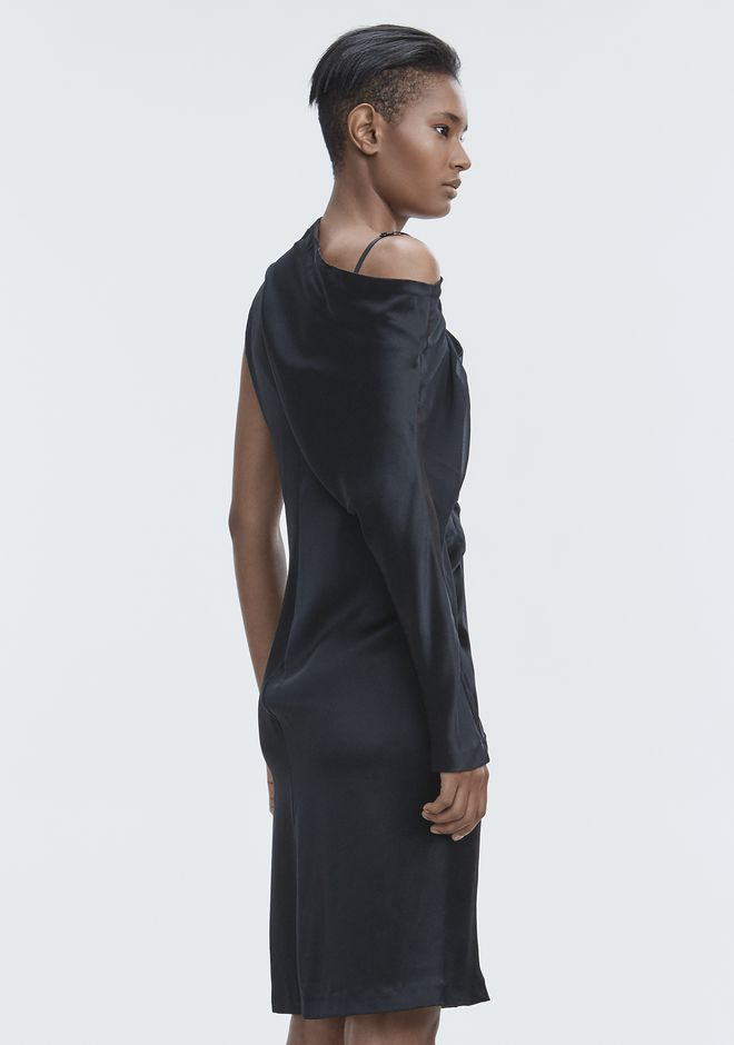 ALEXANDER WANG SILK DRAPED DRESS Long dress Adult 12_n_e