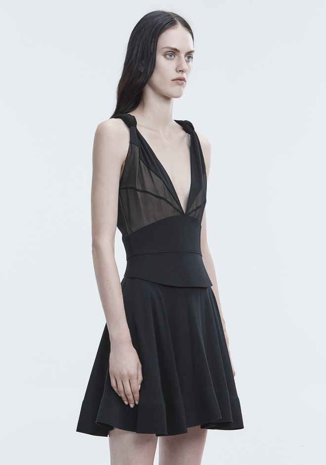ALEXANDER WANG FLARED MINI DRESS Long dress Adult 12_n_a
