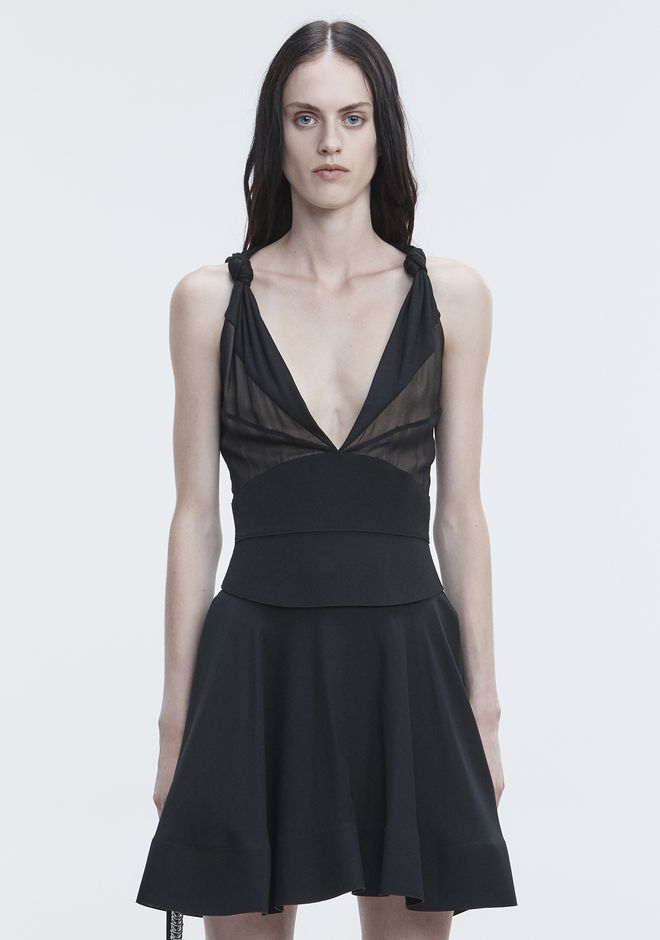 ALEXANDER WANG FLARED MINI DRESS Long dress Adult 12_n_d