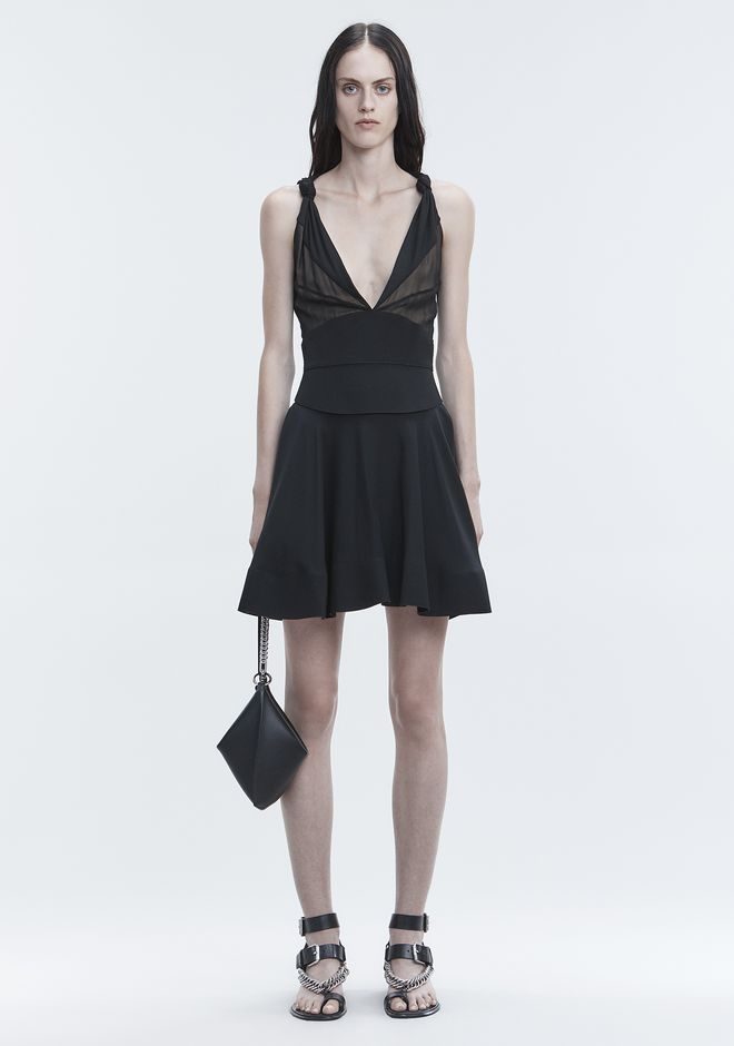 ALEXANDER WANG FLARED MINI DRESS Langes Kleid Adult 12_n_f