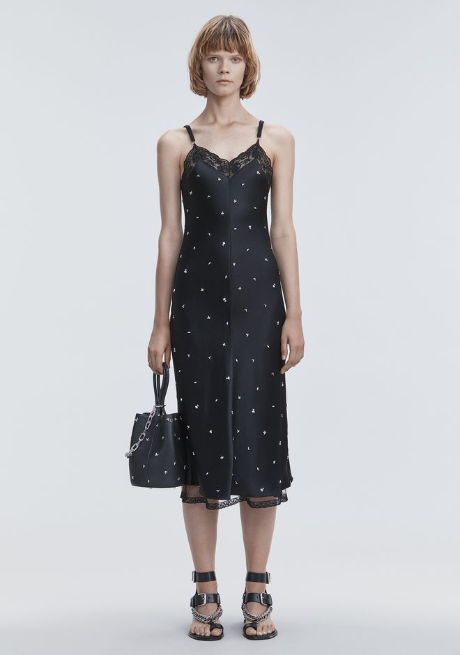 ALEXANDER WANG gift-guide SATIN SLIP DRESS