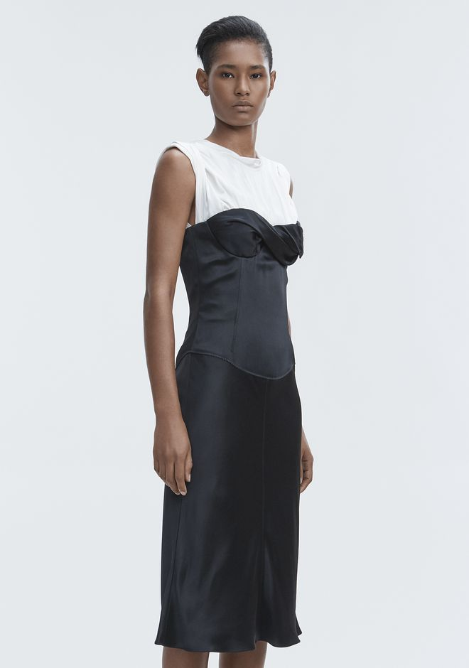 ALEXANDER WANG SATIN TWISTED CUP DRESS  Long dress Adult 12_n_a