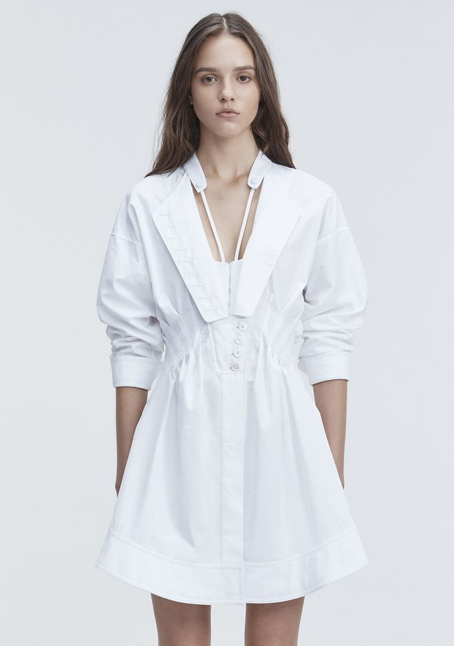 ALEXANDER WANG DECONSTRUCTED POPLIN DRESS Short dress Adult 12_n_d