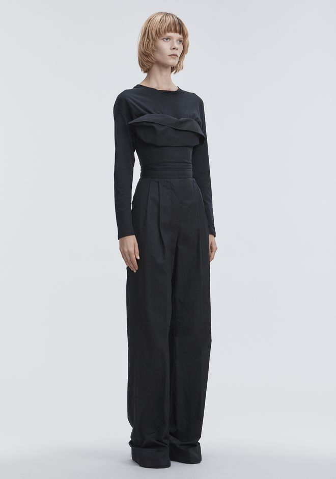 ALEXANDER WANG DECONSTRUCTED POPLIN JUMPSUIT  Long dress Adult 12_n_a