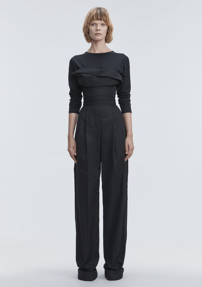 ALEXANDER WANG DECONSTRUCTED POPLIN JUMPSUIT  Long dress Adult 12_n_d