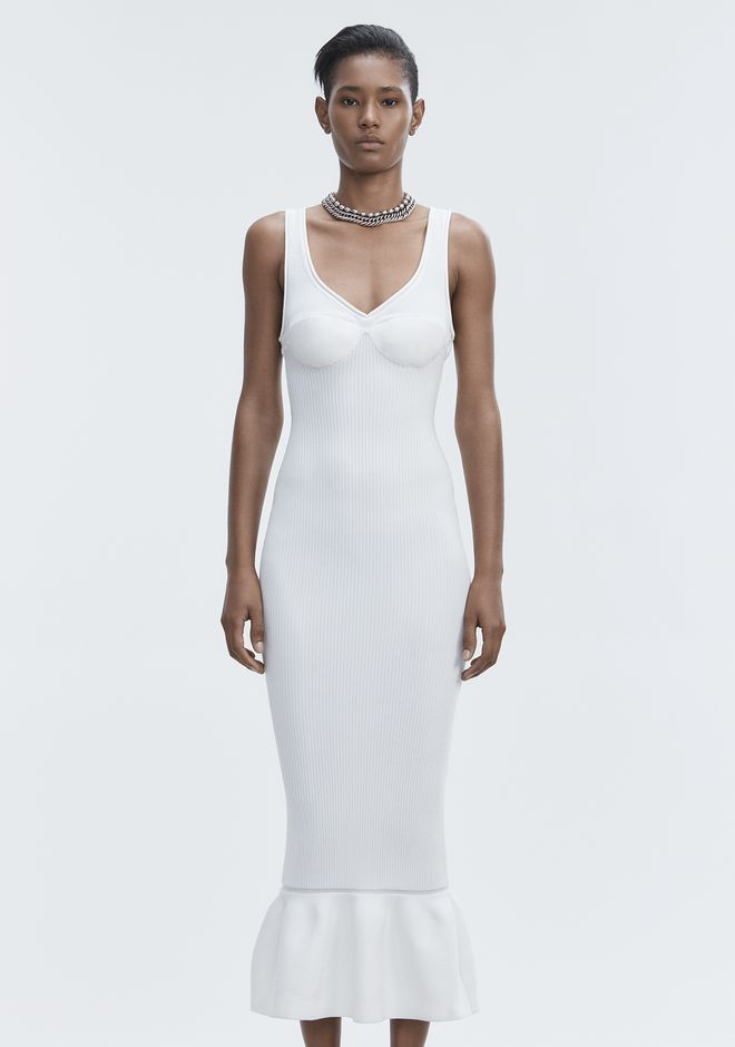 ALEXANDER WANG RIBBED TANK GOWN Langes Kleid Adult 12_n_d