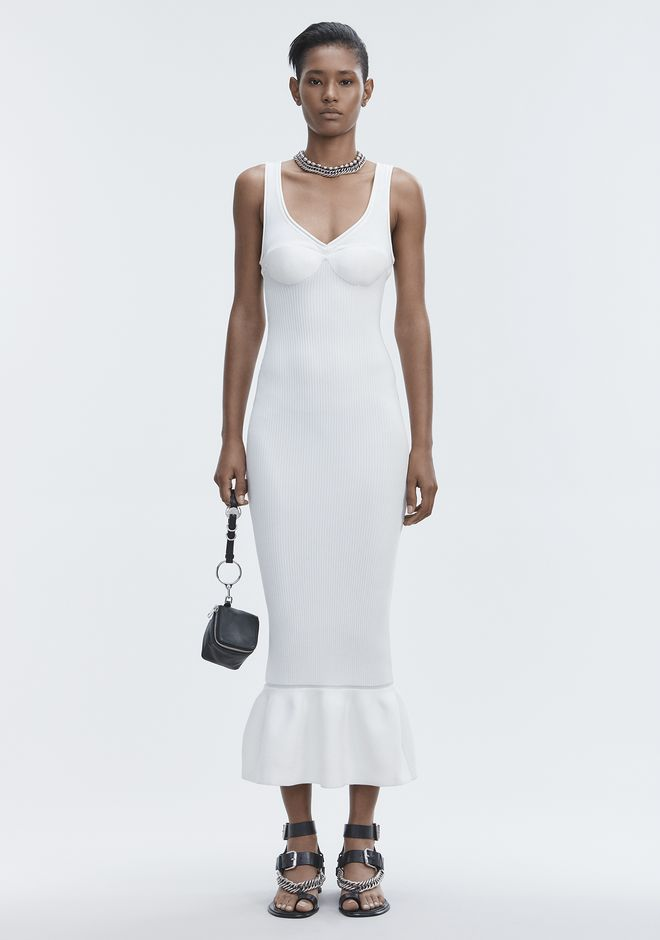 ALEXANDER WANG RIBBED TANK GOWN Long dress Adult 12_n_f