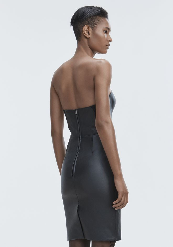 ALEXANDER WANG LEATHER BUSTIER DRESS 长款连衣裙 Adult 12_n_e