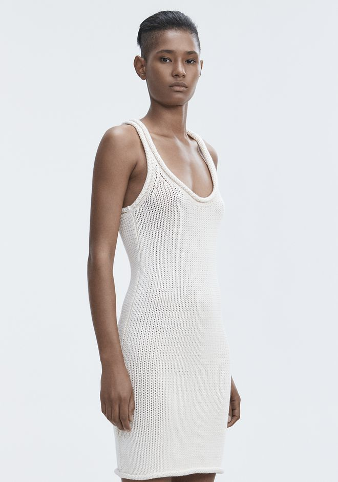 T by ALEXANDER WANG KNIT TANK DRESS Short Dress Adult 12_n_a