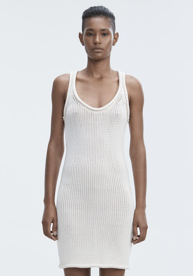 T by ALEXANDER WANG KNIT TANK DRESS Short Dress Adult 12_n_d