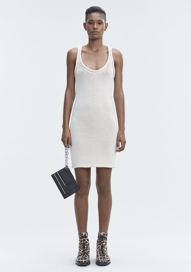 T by ALEXANDER WANG KNIT TANK DRESS Kurzes Kleid Adult 12_n_f