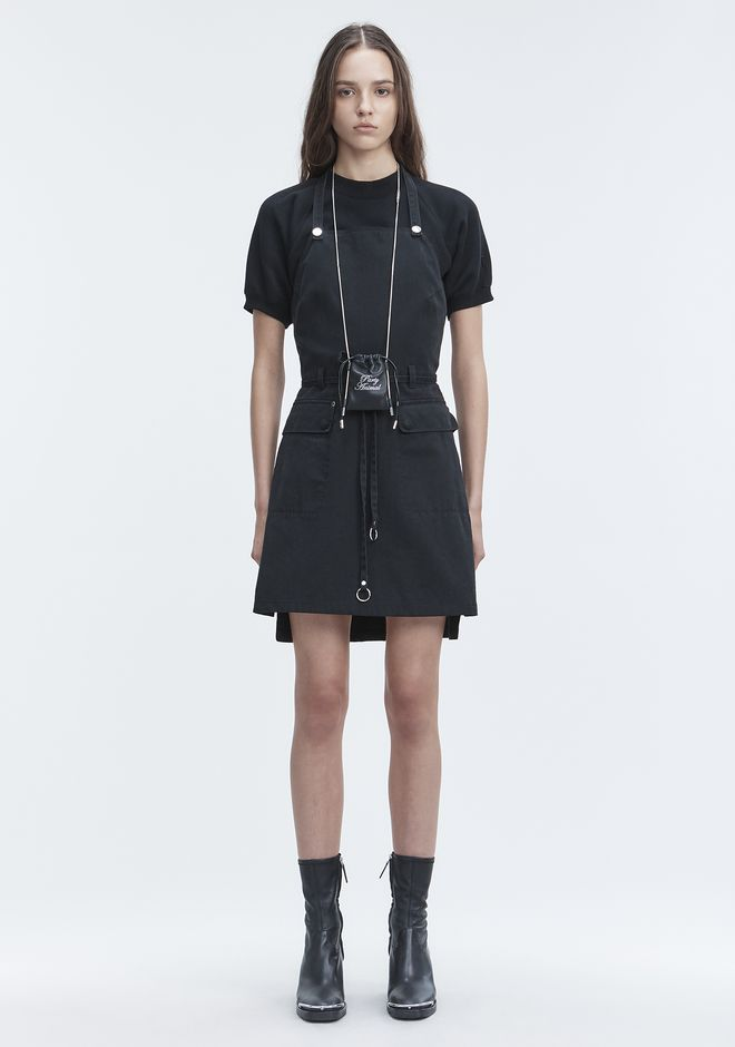 T by ALEXANDER WANG APRON DRESS Short Dress Adult 12_n_f