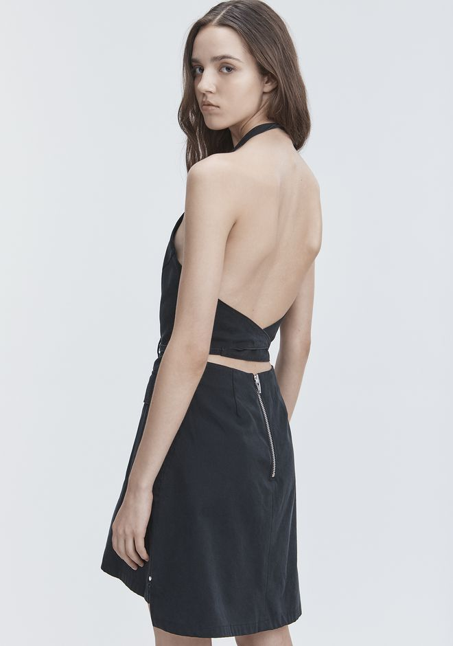 T by ALEXANDER WANG APRON DRESS Short Dress Adult 12_n_r